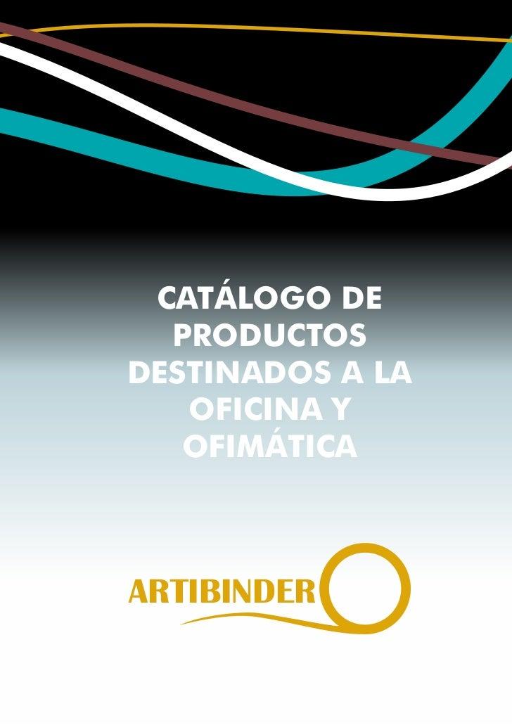 Catalogo artibinder abril 2011
