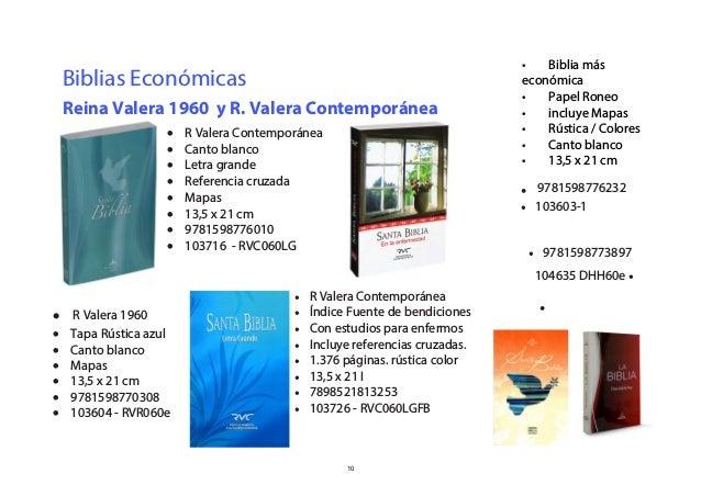 Catalogo de biblias y libros SBCH