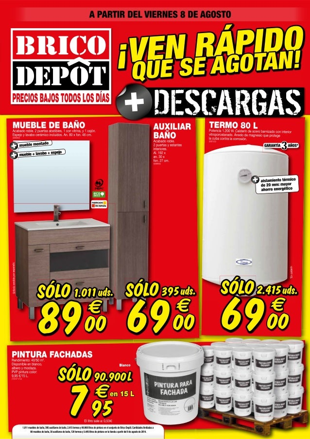 Catalogo bricodepot agosto 2014 for Mampara ducha bricomart