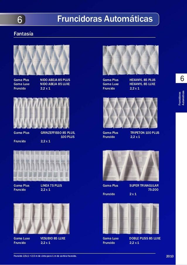 Catalogo cintas - Tipos de cintas para cortinas ...