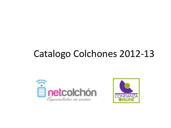 Catalogo Colchones 2012-13