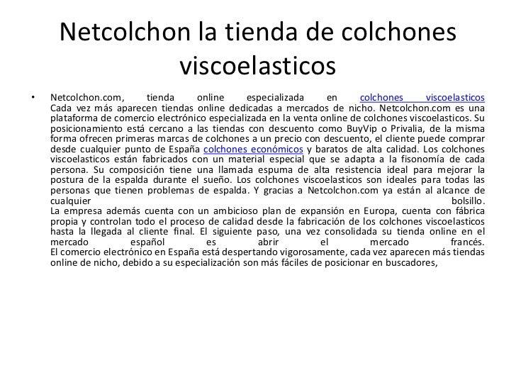 Catalogo colchones baratos 2012 netcolchon com - Colchones venta online ...
