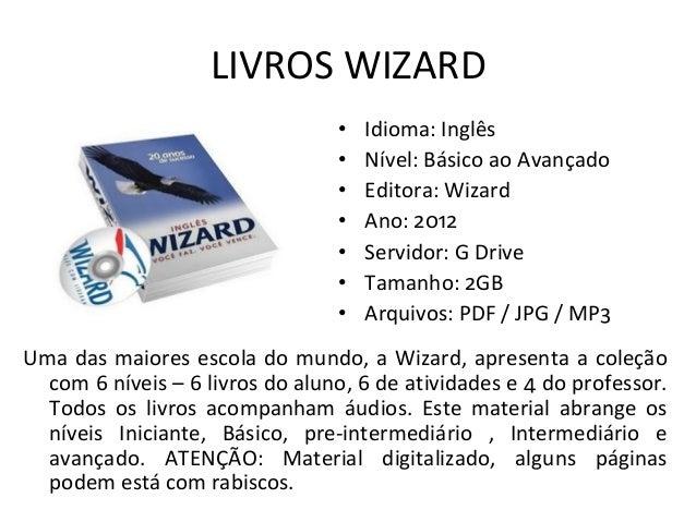 Curso De Ingles Wizard Em Mp3 + Pdf