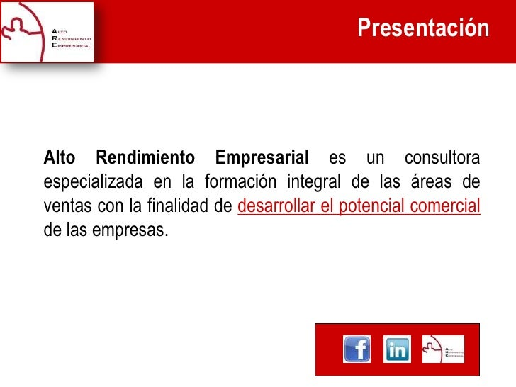 Presentación                                        Texto titulo presentación.Alto Rendimiento Empresarial es un consultor...
