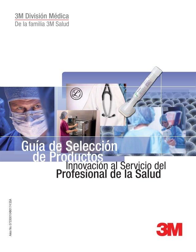 de Productos Guía de Selección AvisoNo.07330010490174SSA
