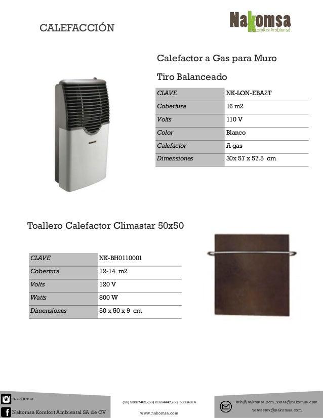 Catalogo de calefaccion for Toallero calefactor