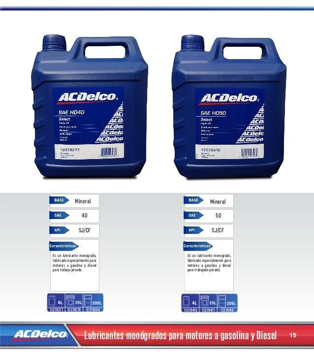 cat225logo de filtros y lubricantes 2014 acdelco