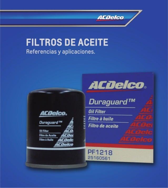 Catlogo De Filtros Y Lubricantes 2014 Acdelco