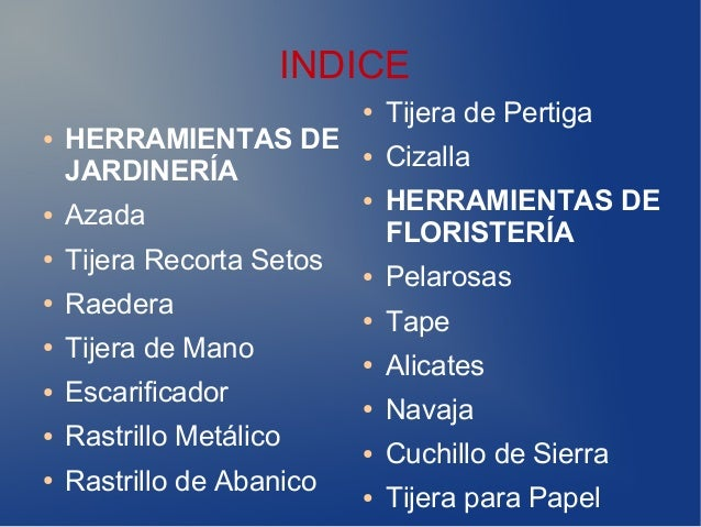 Catalogo de herramientas for Catalogue de jardinerie