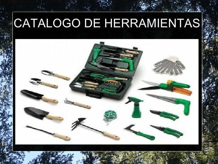 catalogo de herramientas jardineria