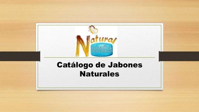 Catálogo de Jabones Naturales