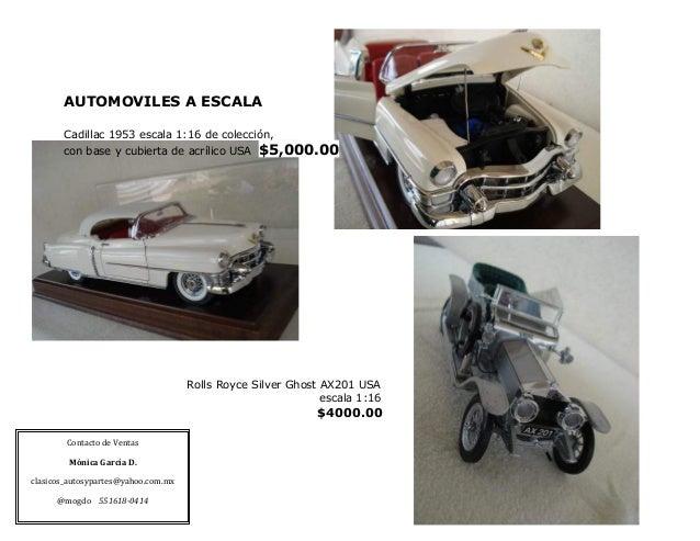 Catálogo de partes a la venta para autos clásicos.
