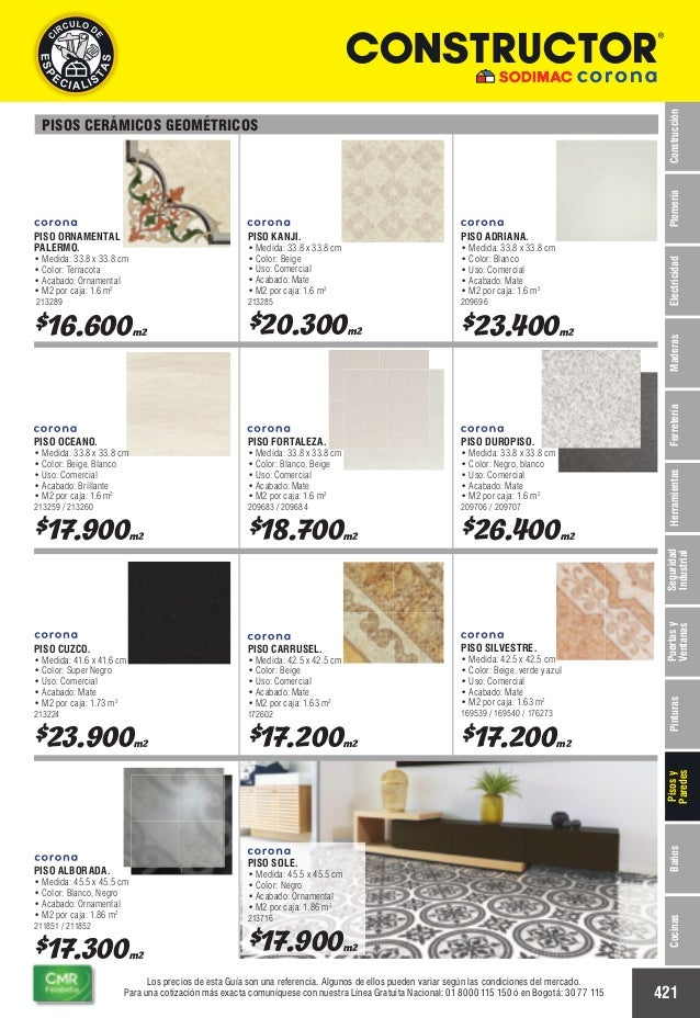 Catalogo de precios baldosas for Precio colocacion piso ceramico