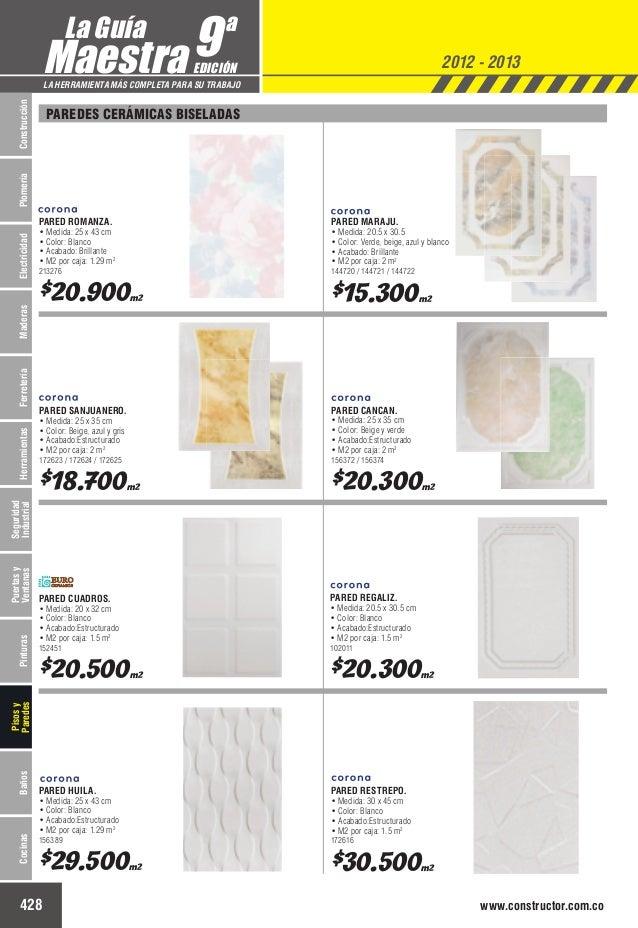 Catalogo de precios baldosas for Vitropiso precio