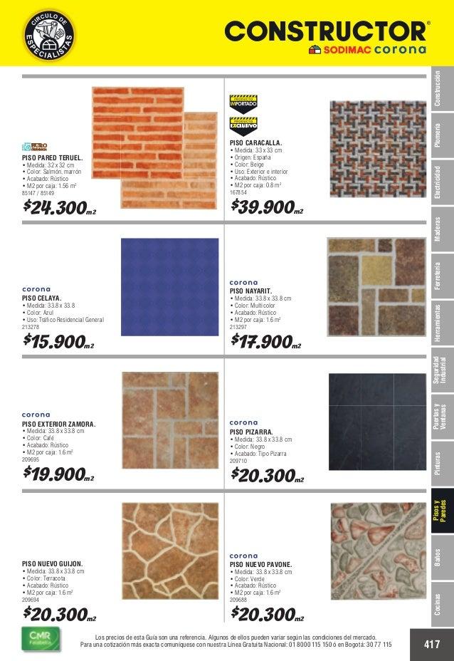 Catalogo de precios baldosas colombia - Medidas de baldosas ...