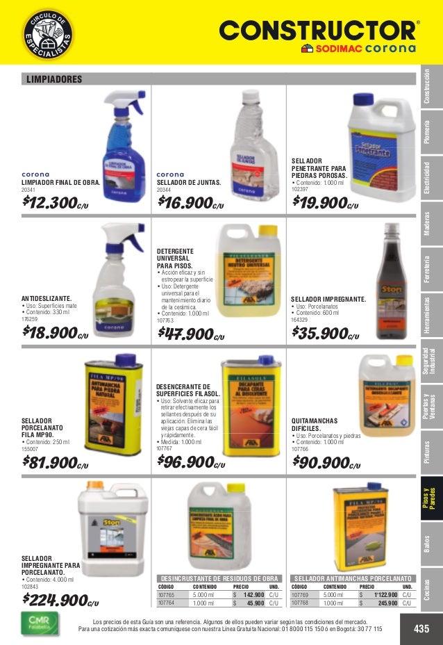 Catalogo de precios baldosas - colombia