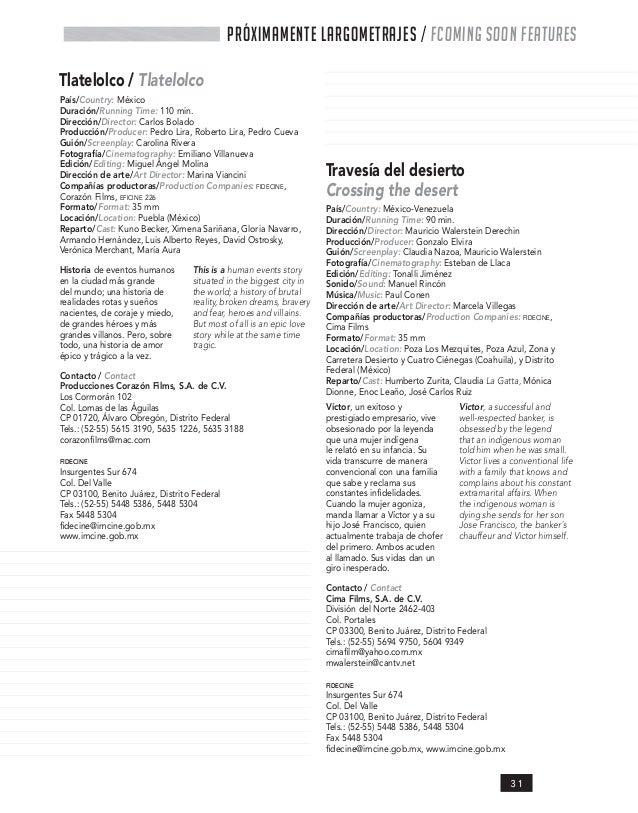 Catalogo de producciones 2009 IMCINE