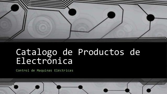 catalogo de productos de electr nica