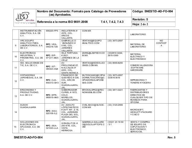 Catalogo de proveedores seleccionado 2015 - Proveedores de mobiliario ...