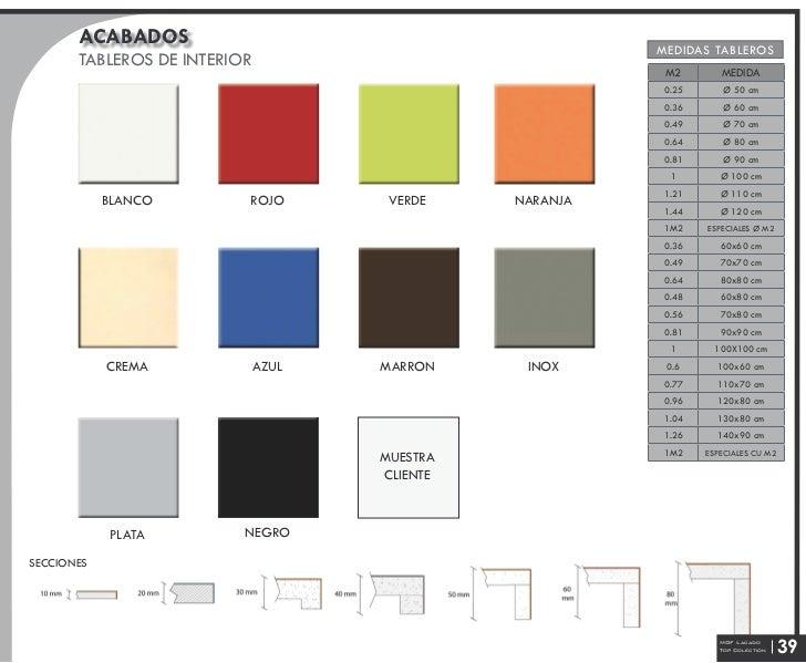 Catalogo de tableros y bases todoensillasymesas - Tableros a medida ...