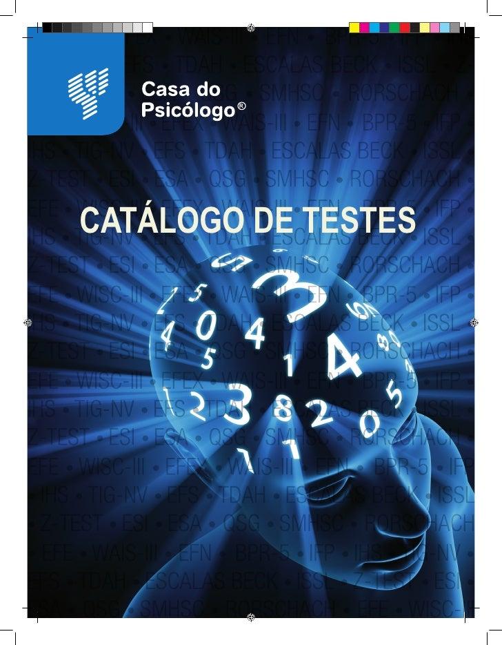 R     CATÁLOGO DE TESTES