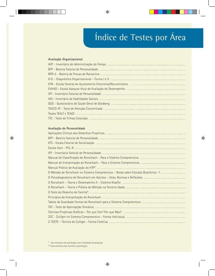 Catalogo de testes Slide 3