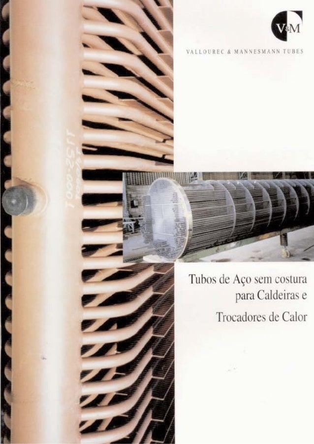 Catalogo de tubos para caldeiras e trocadores