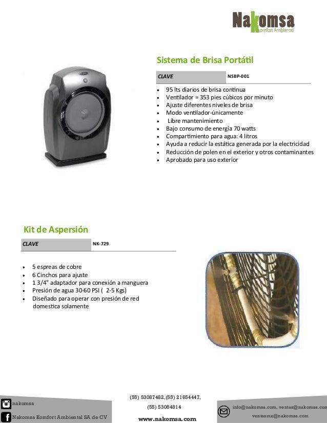 Catalogo de ventiladores - Ventiladores de agua ...