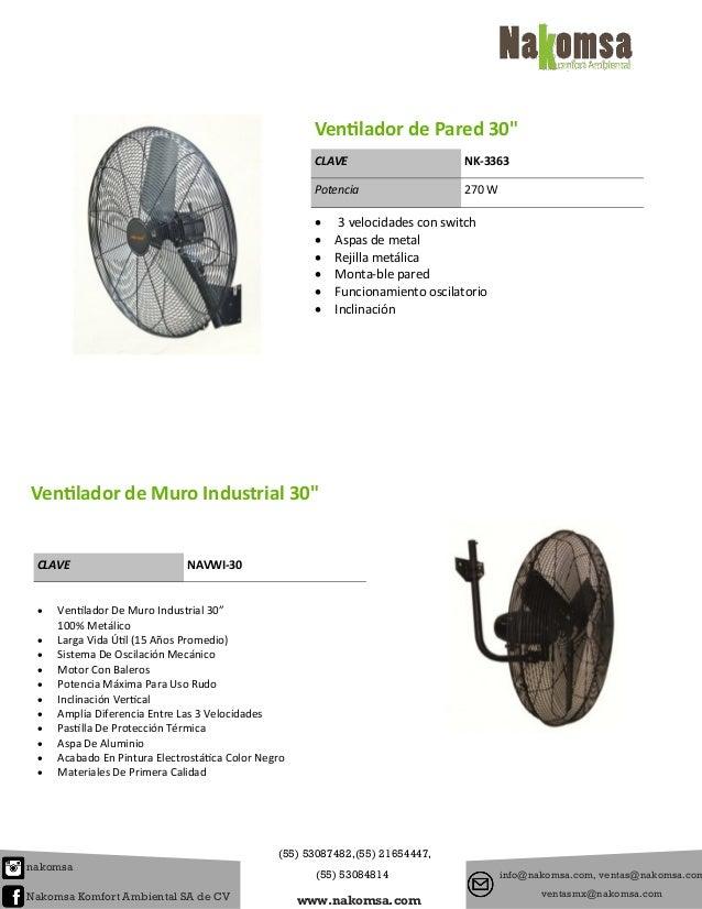 Catalogo de ventiladores for Aspas para ventiladores