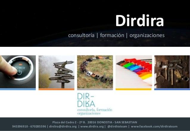 Plaza del Cedro 2 - 2º B. 20016 DONOSTIA - SAN SEBASTIAN 943396910 - 670285596 | dirdira@dirdira.org | www.dirdira.org | @...