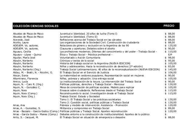 COLECCIÓN CIENCIAS SOCIALES Abuelas de Plaza de Mayo Juventud e Identidad. 20 años de lucha (Tomo I) $ 88,00 Abuelas de Pl...