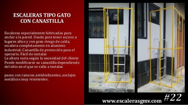 Catalogo escaleras gmv 2016 for Escaleras de aluminio usadas