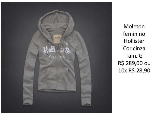 518959485 Moleton feminino Hollister ...