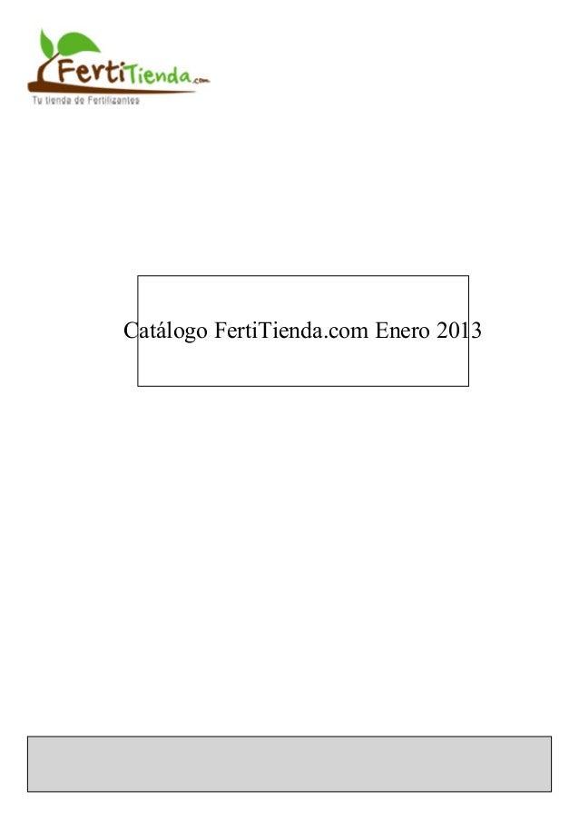 Catálogo FertiTienda.com Enero 2013
