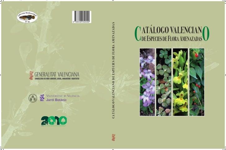 Catalogo flora amenazada