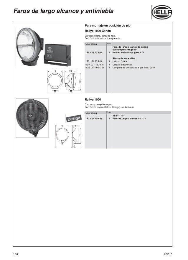 Luz Antiniebla Hella Comet 450 Juego de 2 lámparas incandescentes y kit de montaje