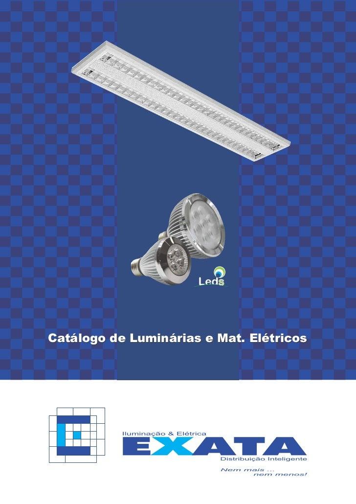 Catálogo de Luminárias e Mat. Elétricos