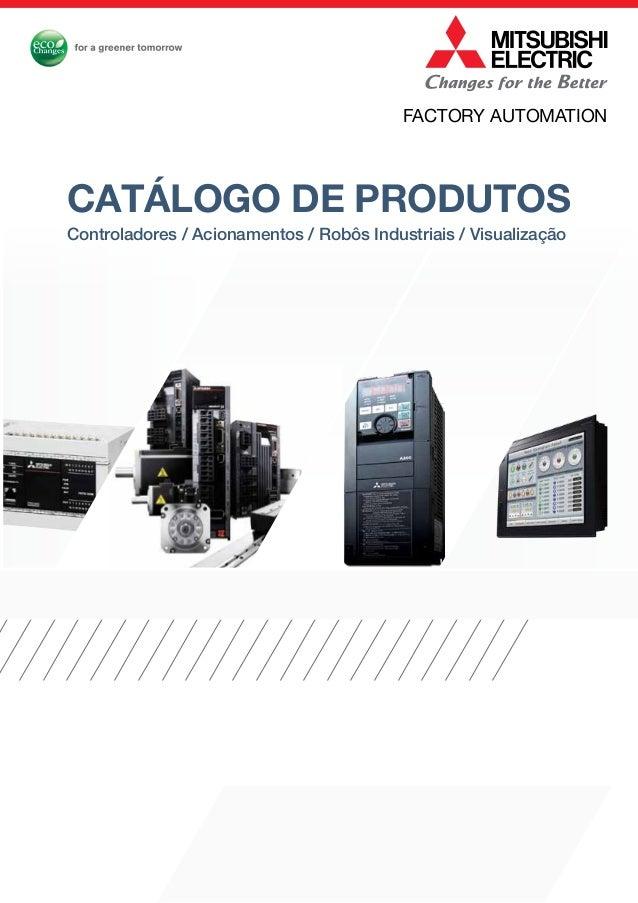 Controladores / Acionamentos / Robôs Industriais / Visualização catálogo de produtos FACTORY AUTOMATION