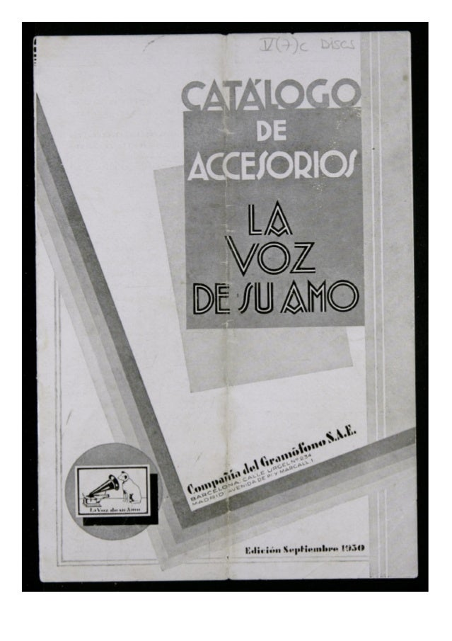 L AS gramolas y discos «LA VOZ DB SU AIUO» son dignos del máximo cui- dado. Conviene pro tege r los discos e n álbu ms sól...