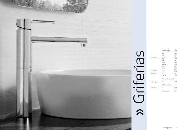 Catalogo griferia gala jrsink fontaner a 2013 for Griferia electronica