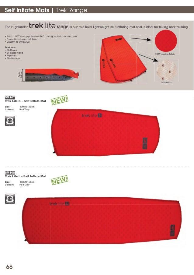 Highlander Trek Lite Self-Inflating Mat Walking Hiking Trekking Camping