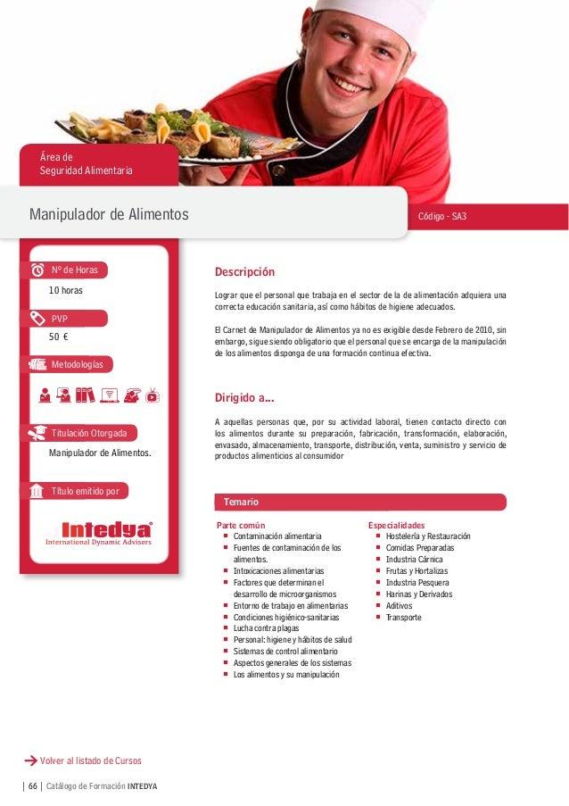 Catalogo intedya formacion - Temario curso manipulador de alimentos ...
