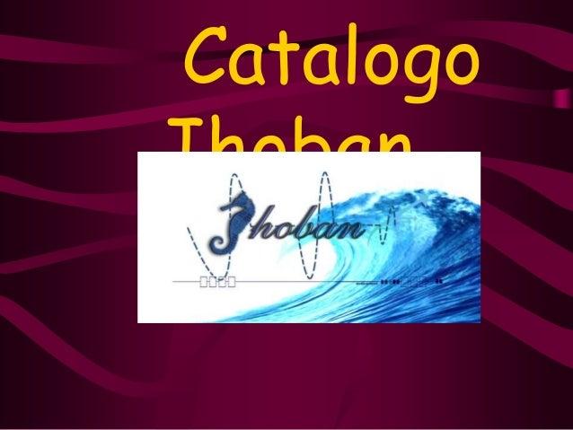 Catalogo  Jhoban