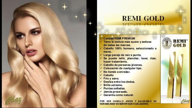  Calidad REMI PREMIUM  Tiene la textura más suave y sedosa de todas las marcas.  Cabello 100% humano, seleccionado a ma...