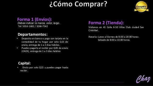 •TEL: 5016-1682 / 3266-7542 FACEBOOK PÁGINA: https://www.facebook.com/ChazGuatemalaBelleza/ • Encuéntranos en Waze, con la...