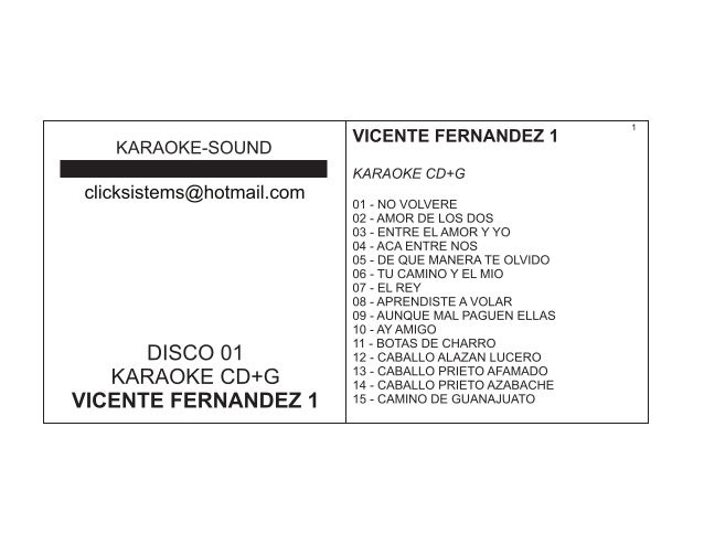 Catalogo karaoke csistems