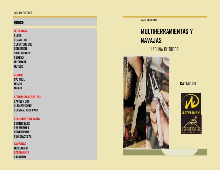 LAGUNA OUTDOOR                       MAYO-JULIO2012INDICELETHERMANSURGE                       MULTIHERRAMIENTAS YCHARGE TT...