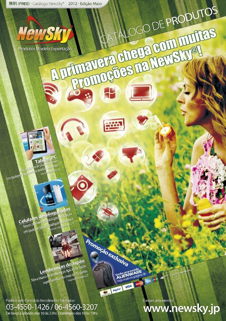 Catalogo de produtos NewSky® - edição Maio