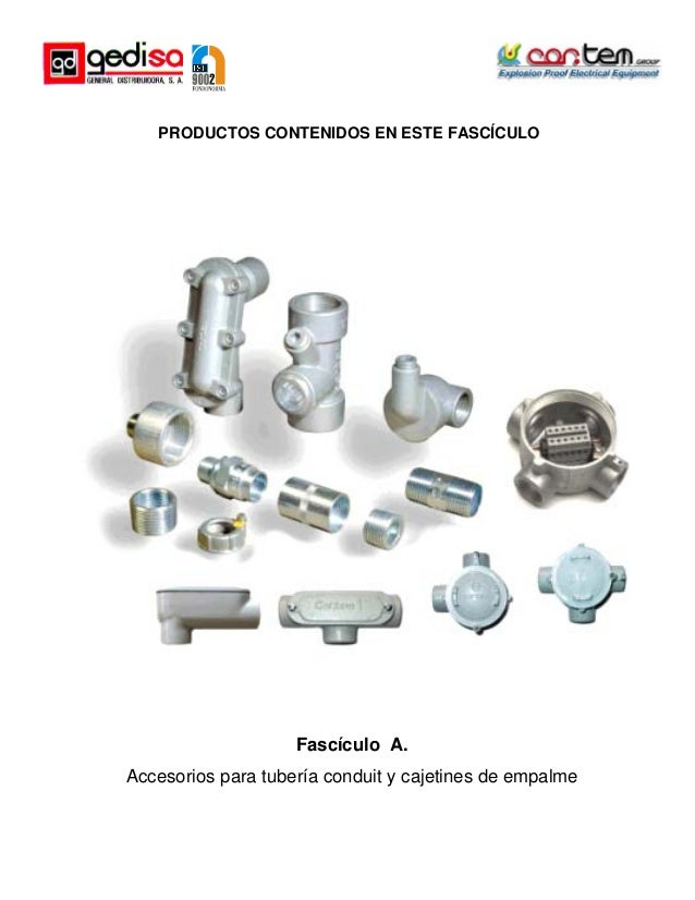 Catalogo manual conduit especiales acero aluminio for Catalogo de accesorios