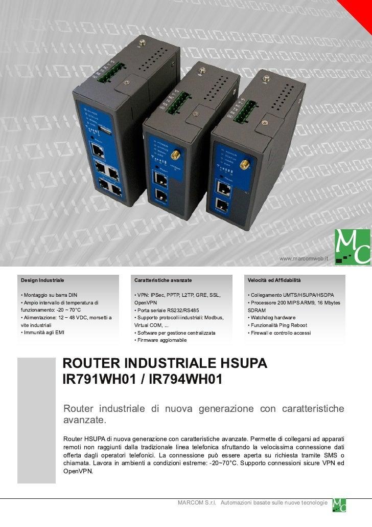 www.marcomweb.itDesign Industriale                          Caratteristiche avanzate                     Velocità ed Affid...
